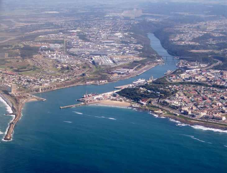 South Africa's only river port, East London, is situated at the estuary of the Buffalo River in Eastern Cape Province.