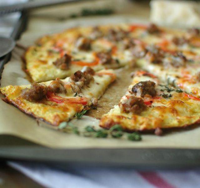 Karfiolos pizza fogyókúrázóknak - www.kiskegyed.hu