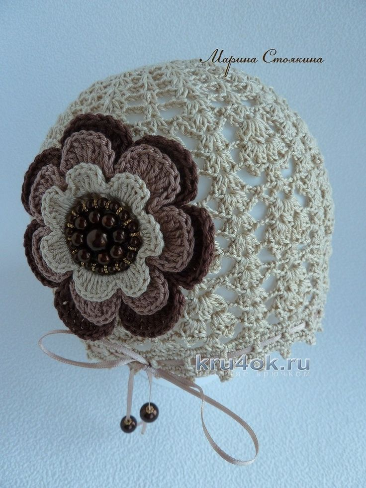 A cap and sarafan for a girl - Marina Stoyakina's work knitting and knitting patterns