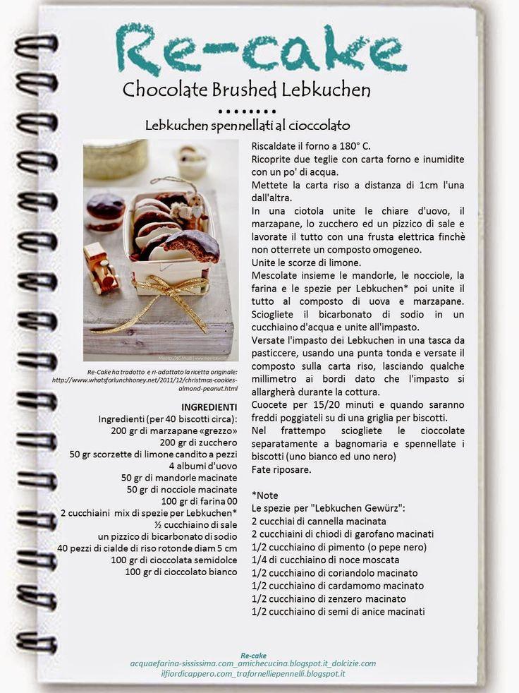 La Zucca Golosa: Chocolate Brushed Lebkuchen per recake #spezie #biscotti #lebkuchen