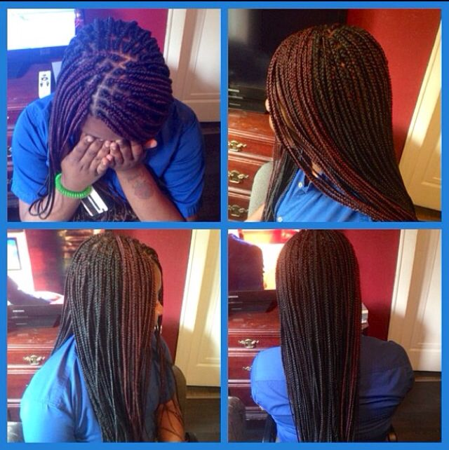 Medium Two Toned Box Braids W Burned Ends Box Braids