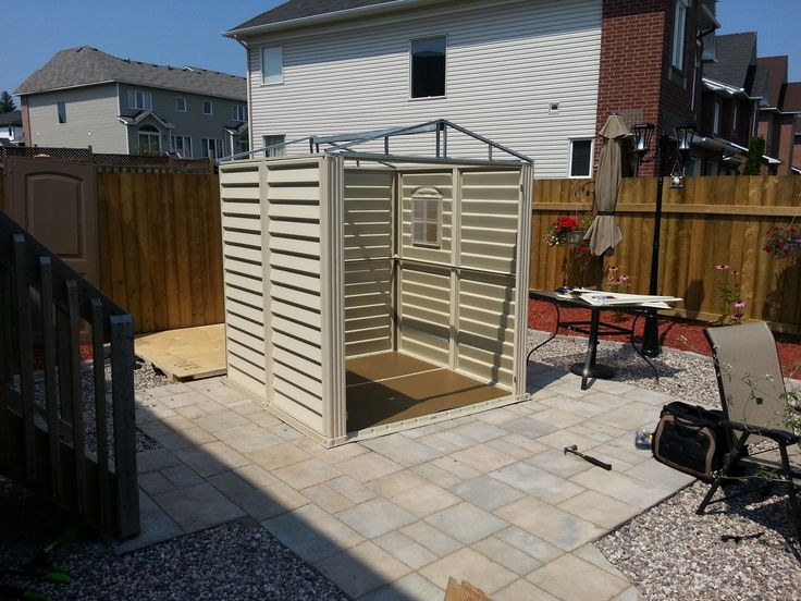 Small Suncast Shed Assembly