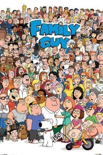 Family Guy Cartoon TV Show Series Peter Griffin Poster Print Wall Art Large Maxi