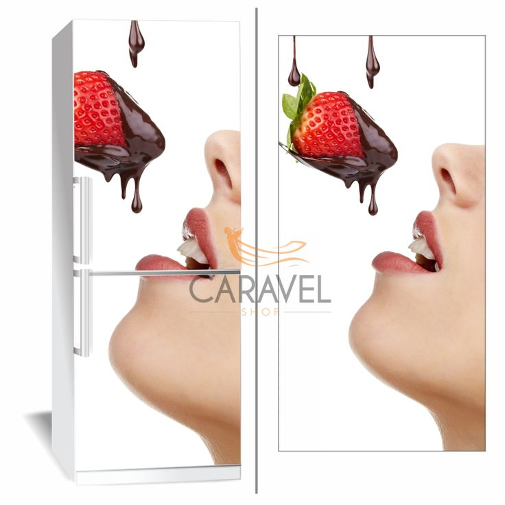 Αυτοκόλλητο Ψυγείου Φράουλα