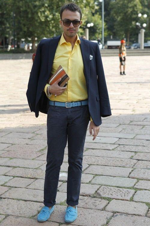 men's yellow dress shirt outfit idea 3