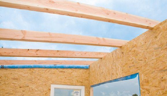 So baust du das Dach für ein Gartenhaus Gartenhaus