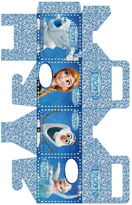 Caja de frozen de cumpleaños para imprimir
