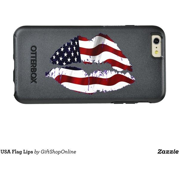 USA Flag Lips OtterBox iPhone 6/6s Plus Case (83 AUD) ❤ liked on Polyvore featuring jewelry, american flag jewelry, otterbox, lip jewelry and lip jewellery