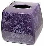 Botanica Purple Facial Tissue Holder/ Tissue Cover