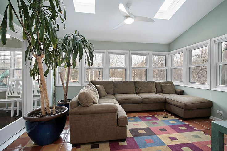 30 Sunroom Ideas u2013 Beautiful Designs u0026 Decorating Pictures   Sunroom Large sectional and Sectional couches : sunroom sectional - Sectionals, Sofas & Couches