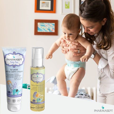 Pharmasept Baby Έως -40%! Επιλέξτε το καλύτερο για το μωρό σας! Χρησιμοποιήστε το Baby Natural Oil 100% φυσικό ενυδατικό λάδι, κατά την αλλαγή πάνας πριν την εφαρμογή της Baby Extra Calm Cream, χαρίζοντας καθημερινή επιπλέον προστασία, φυσική ενυδάτωση και απαλότητα στην ευαίσθητη βρεφική επιδερμίδα! https://goo.gl/LKPG6u