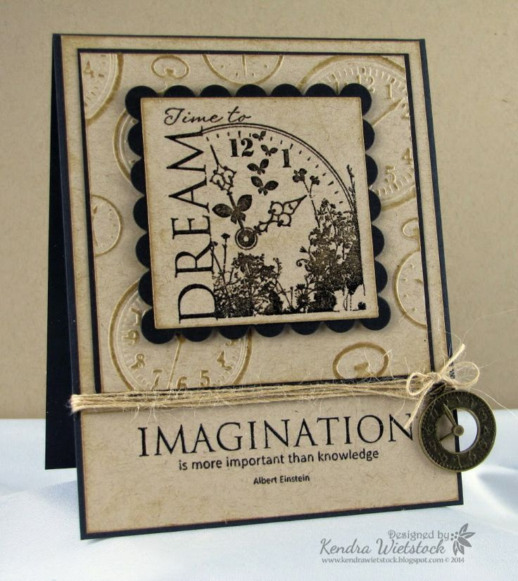 By: Kendra Wietstock; Crafter's Companion (Stamp-It Australia Time to Dream; Embossalicious Folder - A Stitch in Time).  @CraftersCompanion