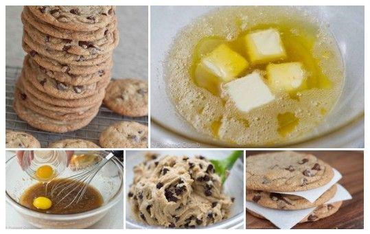 Печенье с шоколадом и орехами  Ингредиенты:  - 270 гр муки - 1/2 чайной ложки соды - 14 столовых ложки сливочного масла ( 1,5 пачки) - 1/2 стакана сахарного песка - 3/4 чашки коричневого сахара - 1 чайную ложку поваренной соли - 2 чайные ложки ванильного экстракта - 1 большое яйцо - 1 большой яичный желток - 1 1/4 стакана полусладкого (или горького) дробленного шоколада или шоколадных чипсов/капель - 3/4 чашки нарезанных орехов пекан или грецкие орехи  Способ приготовления:  1) Разогрейте…