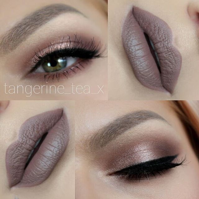 """IN LOVE WITH THIS AMAZING Pinky Sepia Look by TEA @tangerine_tea_x @tangerine_tea_x @tangerine_tea_x  Details: MAC Cork eyeshadow, @anastasiabeverlyhills eyeshadows in """"Dusty Rose"""" & """"Pink Champagne"""" , """"Jet"""" waterproof creme color for the liner, Brow Wiz Pencil in Taupe on brows, Temptress Wispy Lashes from @houseoflashes , @anastasiabeverlyhills Sepia Liquid Lipstick, @karlacosmetics Lip Brushes  #auroramakeup #houseoflashes #Anastasiabeverlyhills"""