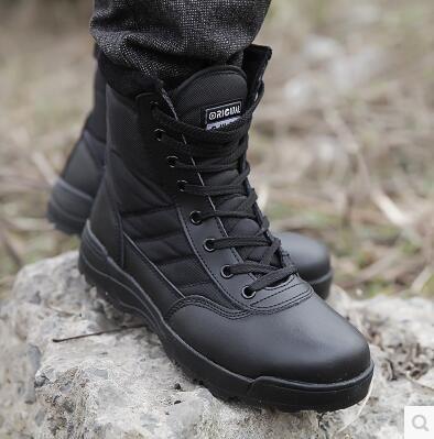 SWAT Открытый обувь мужская высокие сапоги, чтобы помочь военные ботинки для мужчин зимние ботинки теплые тактика коммандос пустыни сапоги.