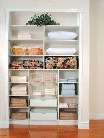 Nice linen closet layout