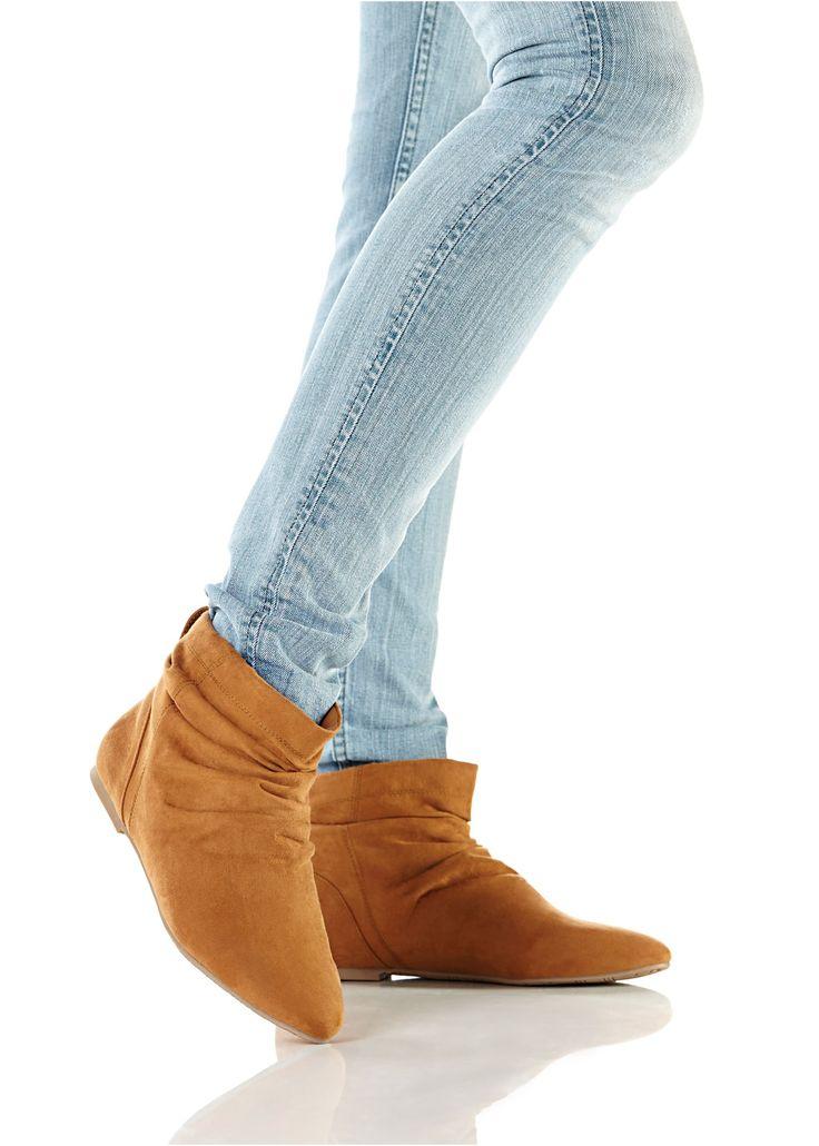 Stiefelette camel - bpc bonprix collection jetzt im Online Shop von bonprix.de ab ? 25,99 bestellen. Trendy und angesagt, zum Hineinschlüpfen.