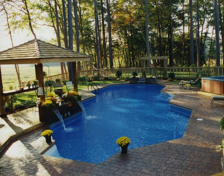 65 best swimming pools images on pinterest swimming for Country pool ideas