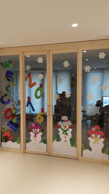 Yeni yıl kapı süslemesi