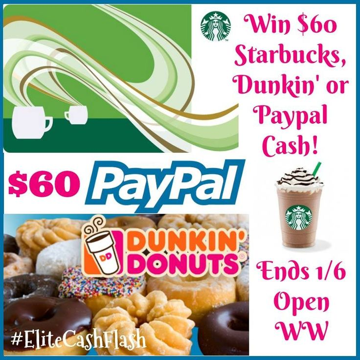 Want to make the new year even better? Enter to win a $60 Dunkin' Donuts, Starbuck's or Paypal Gift Card here!