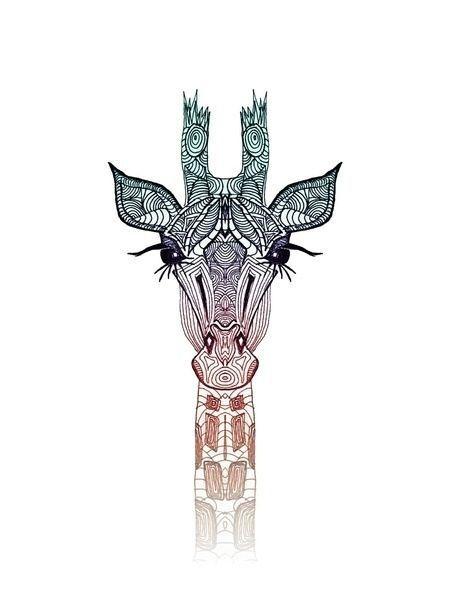 Giraffe als Premium Poster door Monika Strigel Giraffe Drawing, Giraffe Art, Art Bleu, Poster Online, Art Mural, Art Art, Animal Pillows, Blue Art, Diy Arts And Crafts