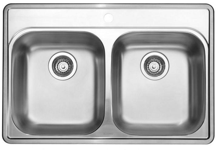 Stainless Steel Topmount Kitchen Sink, 1-Hole