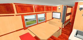 Our readers have been requesting a detailed floor plan of the Good News Bus for some time.  Julie is our design expert at the Good News B...