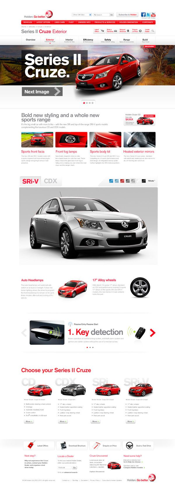 web design / Holden Cruze
