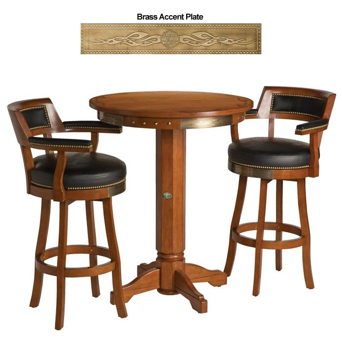 bar u0026 shield flames pub table u0026 backrest stool set w