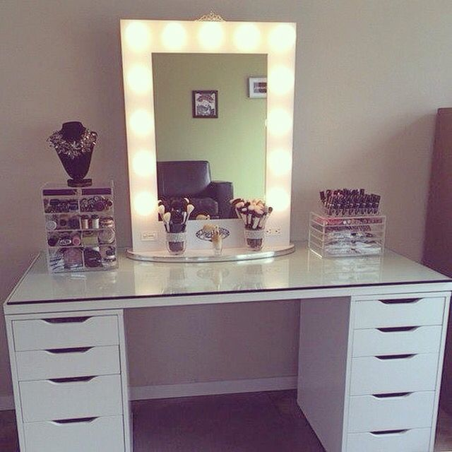 find this pin and more on makeup vanitiesorganization by tygeremiles - Vanity Desk Ideas
