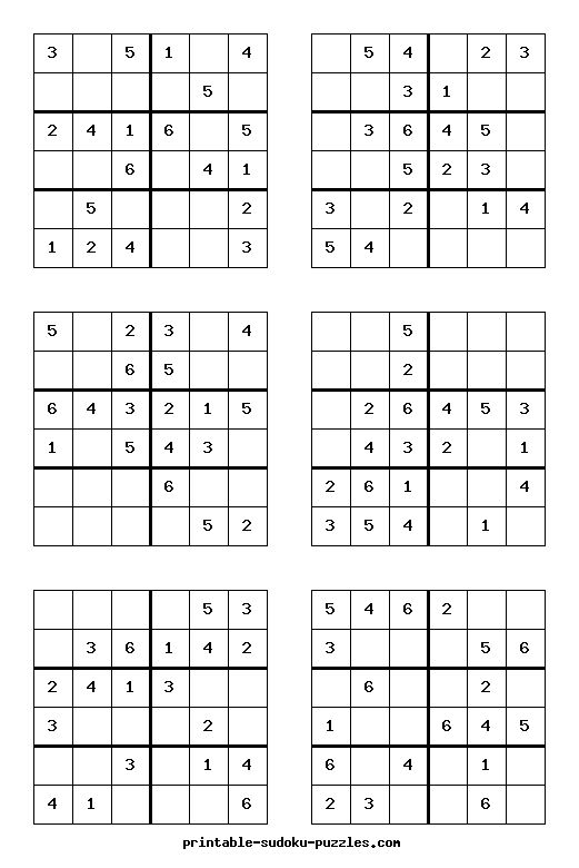 Printable Sudoku Puzzles for kids 2016-07-25