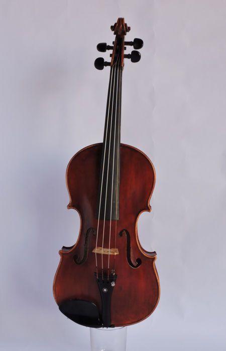 Catawiki online auction house: Luthier-crafted violin, Augusta Di Leonardo Violinmaker, Antonio Stradivari Copy