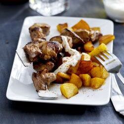 Geroosterde paprika-aardappelen met Griekse yoghurt