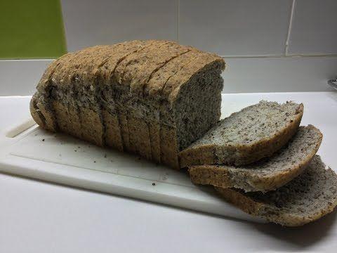 pan de molde con linaza - YouTube