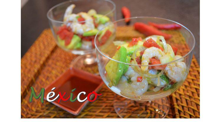 Veja como é fácil preparar um legítimo ceviche de camarão mexicano. Nós experimentamos e recomendamos essa entrada que é fantástica!