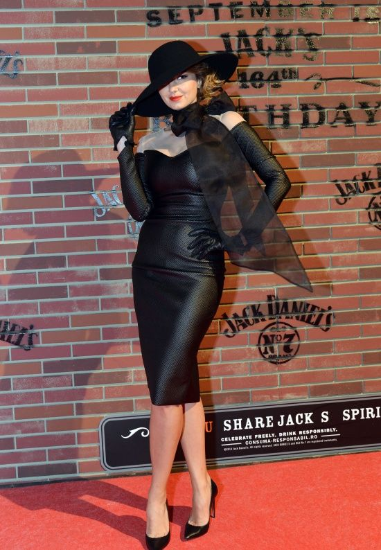 Roxana Ionescu wearing Marie Ollie for Jack Daniel's birthday party.