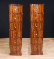 Canonbury - Art Deco Cabinet Mahogany Chest 1920s Furniture Lozenge Inlay
