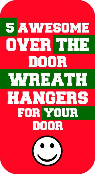 5 awesome over the door wreath hanger options for your door! #door #wreath  sc 1 st  Pinterest & 25+ best Over the Door Wreath Hanger images on Pinterest | Door ...
