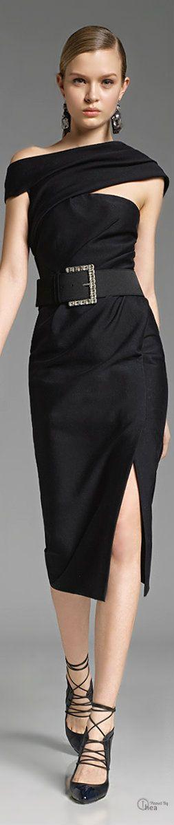 Donna Karan ● Black Belted Dress!            C