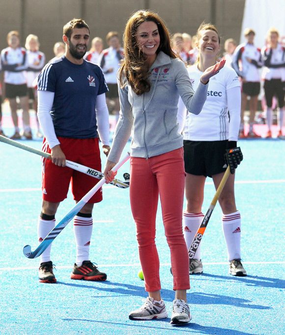 Kate training with the Great Britain hockey team 3/15/12