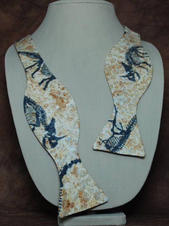Paleontology bow tie by AbandonedWarehouse on Etsy