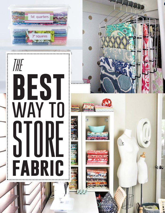 The best ways to store fabric