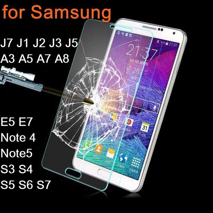 Tempered Glass For Samsung Galaxy J7 J1 J2 J3 J5 A3 A5 A7 A8 E5 E7 S3 S4 S5 S6 S7 Screen Protector Cover Note 4 Note5 Guard Film ** Vy mozhete poluchit' dopolnitel'nuyu informatsiyu po ssylke izobrazheniya.