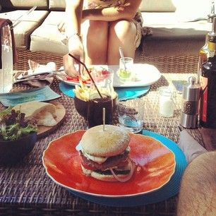 From @Guillaume Gaubert: At the restaurant after having been to the swimming pool. The Villa Marie burger is absolutely delicious. #summer #sainttropez #ramatuelle #villamarie #restaurant