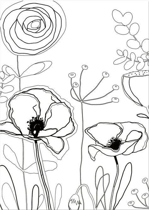 Coloriage Clairefontaine à imprimer et à colorier, thème fleurs