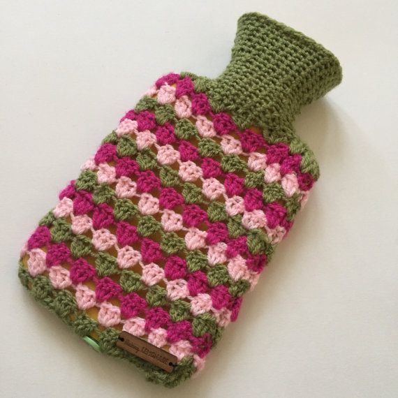 Mini hot water bottle with cover
