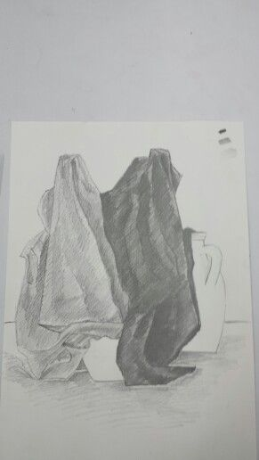 Pencil Drawing by me Fabric study