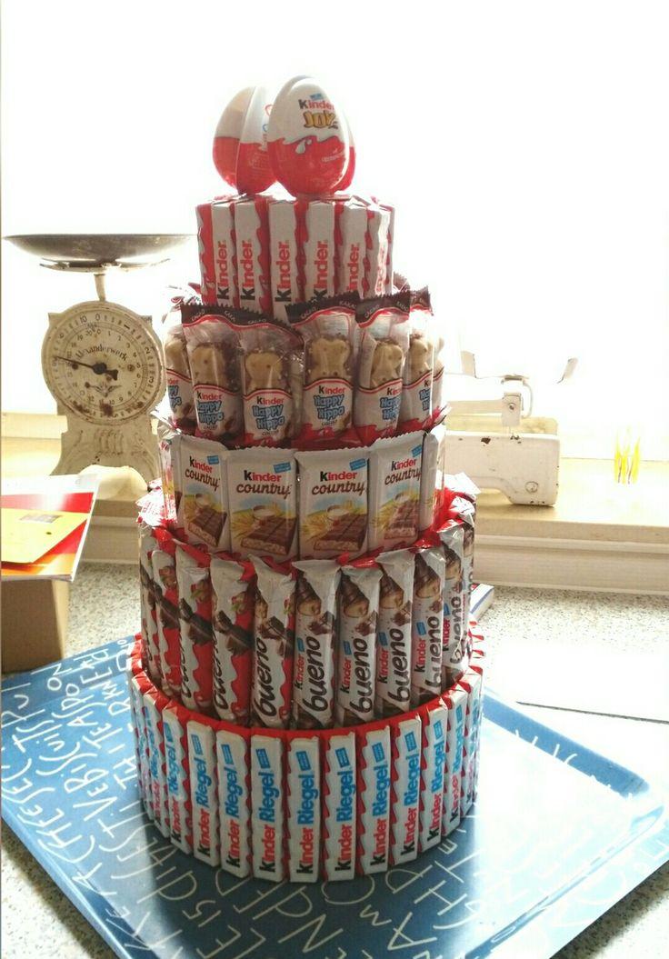 Geburtstagstorte aus KINDER-Schokolade