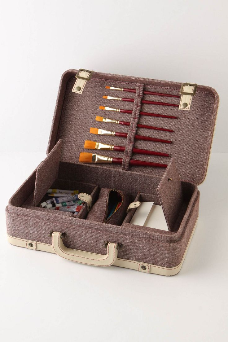 What a cool case for art supplies! And about the size of a sketchbook