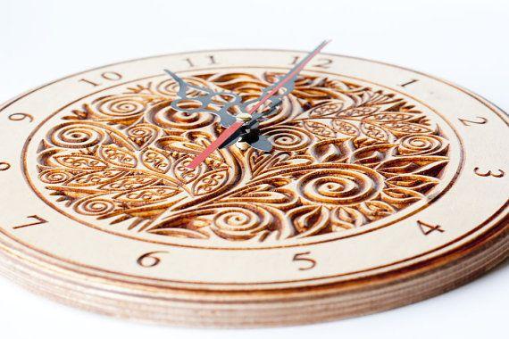 Clock, Clock gift, Vintage, Home Decor,clock white, Clock Wall, Decorative clock, gift, rustic wall clock, brown wall clock,Valentine's Day
